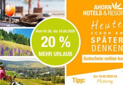 Ahorn-Hotels: Jetzt 20 Prozent mehr Urlaub