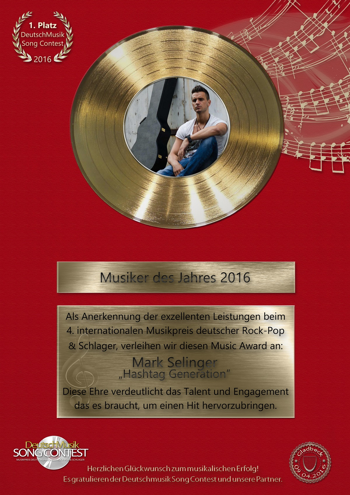 gold-award-deutschmusik-song-contest-2016-mark-selinger